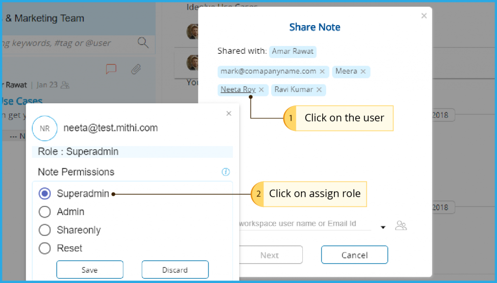 Click on the user assign role